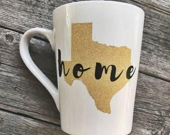"""14oz Texas """"Home"""" Coffee Mug"""