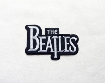 1x The Beatles patch logo music custom rock english Iron On Embroidered Applique