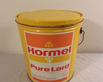 Vintage Hormel Lard Bucket