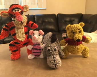 Winnie The Pooh and Friends Crochet FREE SHIPPING