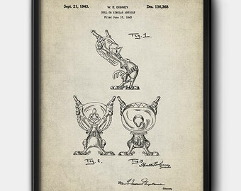 Panchito Pistoles · Patent · 1943 · Disney · Printable · Cartoon · Instant Download #196