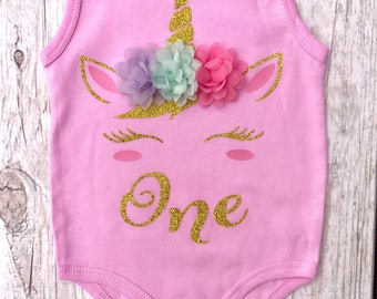 Magical Unicorn Birthday/Baby Onesie