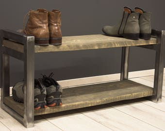 shoe rack shoe rack metal and wood reclaimed wood industrial shelf shoe