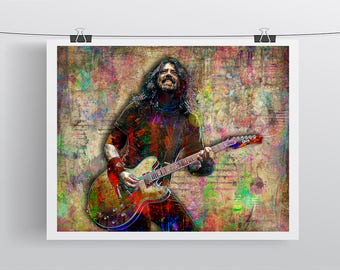 Dave Grohl Print, Dave Grohl Artwork, Dave Grohl Gift, Dave Grohl Colorful Layered Tribute Fine Art, Dave Grohl Poster for Foo Fighters Fans