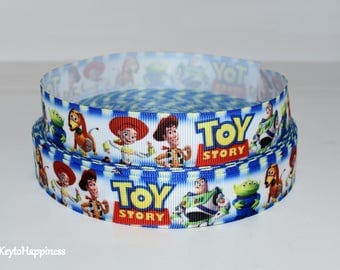 "Toy Story 7/8"" Grosgrain Ribbon 446 By the Yard"