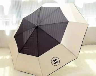 New With Box/Bag Foldable Chanel Umbrella VIP GIFT CC Logo