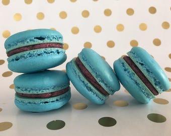 Blueberry Buttercream Macarons