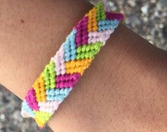 Customizable Five color braid friendship bracelets