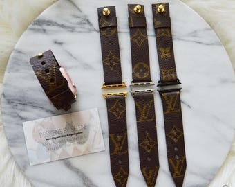 Louis Vuitton Monogram Canvas Apple Watch Straps, 38MM & 42MM Handmade,Repurposed Louis Vuitton,Upcycle,Recylce