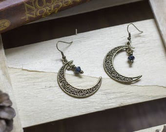 "cute pair of earrings ""witchmoon"""