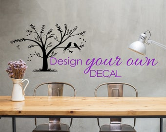 Custom Wall Decals, Personalized Decals, Wall Stickers, Bedroom Decals,  Modern Home Decals