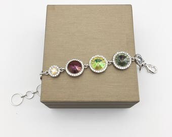 Swarovski Elements Crystal bracelet bubbles collection Free Shipping