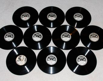 10 Nice Antique Vintage Edison Diamond Discs Phonograph Records From The Teens and Twenties  Group B