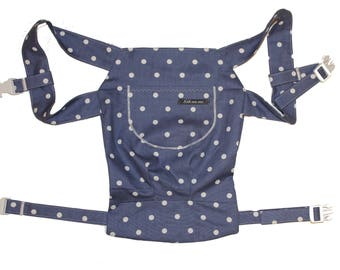 Doll carry/doll backpack dots Blue