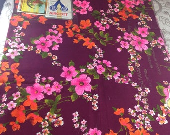Large remnant 80s Japanese Chintz.  About a yard square