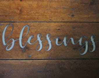 "Metal ""blessings"" Sign"