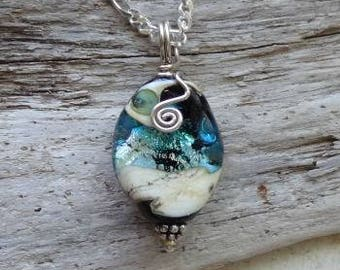 Ashes in Glass, Memorial Necklace, Pet Memorial, Cremation Jewelry
