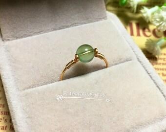 Handmade ring, Sterling silver ring, grape stone ring, 14k gold filled ring