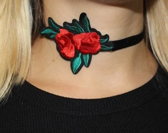 Satin Rose Choker