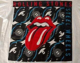 RARE 1989 vintage Rolling Stones steel wheels USA concert tour t-shirt XL.