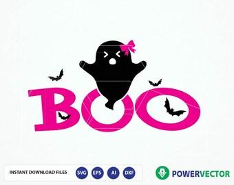 Halloween svg. Ghost svg. Boo svg. Boys halloween svg, png, eps, DXF, girls halloween svg Cut File, Cricut, Cameo Svg Files, Iron on Print