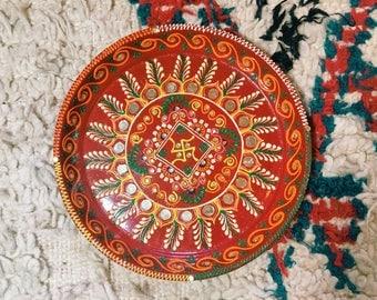 Indian Decor, Mirrored Tray, Decorative Plate