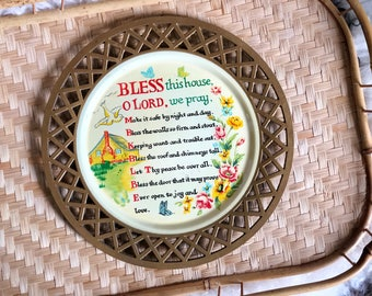 Bless this House O Lord We Pray - Vintage Plate