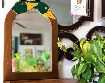 Vintage Mirror, Mallard Duck Mirror
