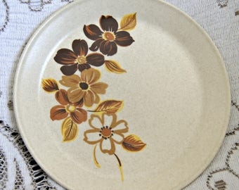 Johnson of Australia Bread and Butter Plate - Brown Flowers