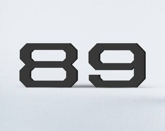 Flat Cut Acrylic House Numbers - United Sans Extended Bold
