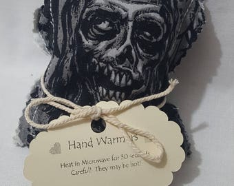 Reusable Hand Warmer / Cold Pack - Set of 2 - Zombie / Walking Dead