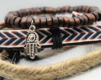 Hamsa Charm Bracelet Set