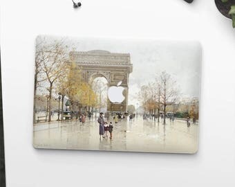 "Galien-Laloue, ""Arc de Triomphe"". Macbook Pro 15 decal, Macbook Air 13 skin, Macbook 12 sticker. Macbook Pro sticker. Macbook skin Art."