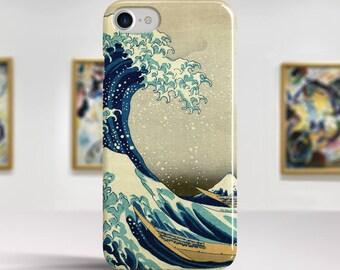 "Katsushika Hokusai, ""The Great Wave off Kanagawa"". iPhone 8 Case Art iPhone 7 Case iPhone 6 Plus Case and more. iPhone 8 TOUGH cases."