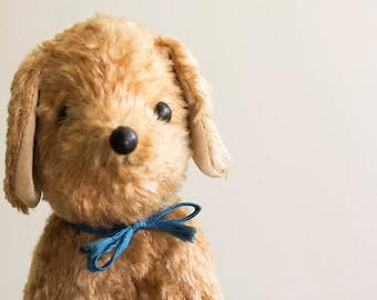 Vintage plush puppy dog toy.