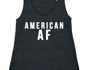 American AF Women's American Apparel Racerback Tank Top
