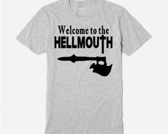 Buffy the Vampire Slayer Welcome to the Hellmouth Sunnydale Unisex T Shirt Many Sizes Colors Custom Horror Halloween Merch Massacre