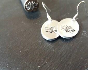 Manchester bee earrings, worker bee earrings.