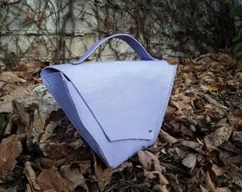 Lavendar Leather Hand Bag