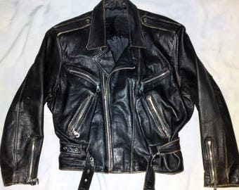 gipsy by MAURITIUS - 60's Old School Biker Motorcycle Jacket, size L
