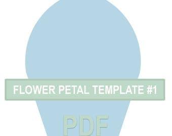 Flower Petal Template #1 PDF