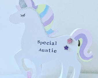 Personalised Freestanding Unicorn