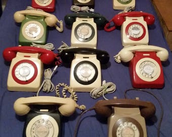 Telephones Retro assorted 1960s