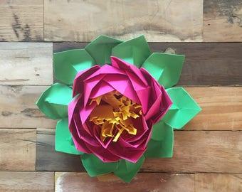 Origami paper lotus flower