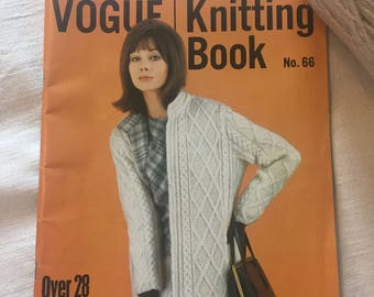 Vogue Knitting Book No. 66 - 1960's Vintage Knitting/Crochet Patterns