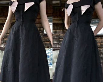 RARE late 1940s Nettie Rosenstein Zipper Front Dress
