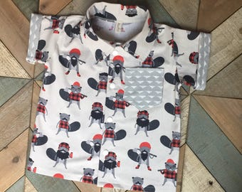 Burly Beaver Button Up