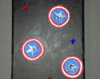 Captain America Inspired Canvas Art