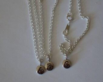 Initial Jewelry,Alphabet Jewelry,Tiny Silver Disc Initial Bracelet,Alphabet Letter Jewelry Bracelet,Engraved Jewelry Bracelet Silver