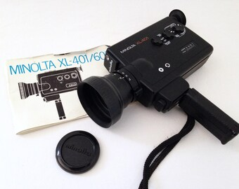 Camera Super 8 Minolta XL 401, with its instructions. In working condition. Year 1970